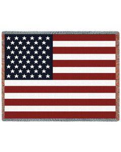 USA Fahne Gewebte Baumwolldecke