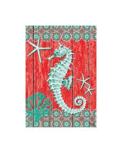 Seahorse and Starfish Garden Flag