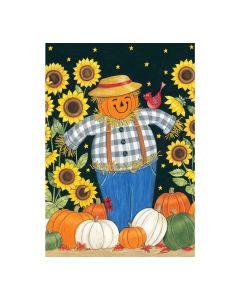 Sunflower Scarecrow Gartenfahne