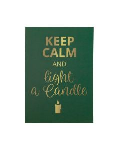 Keep Calm and light a Candle Card