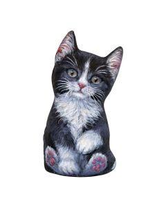Schwarze & Weiße Kätzchen Türstopper vorne
