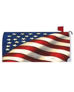 American Flag Waving Mailbox Cover from American Heritage