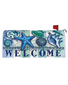 Welcome Shells Mailbox Cover