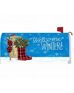 Welcome Winter Boots Mailbox Cover von American Heritage