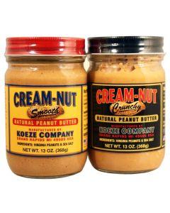 Koeze Peanut Butter Crunchy & Smooth Erdnussbutter American Heritage