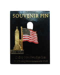 Empire State Building mit Flagge Pin