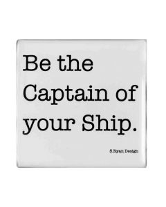 "Magnet ""Be the captain of your ship"" von American Heritage"