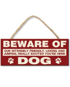 Wooden sign Beware Of Dog