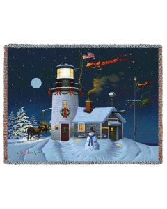 Take Out Window Lighthouse Blanket (100 % Cotton)