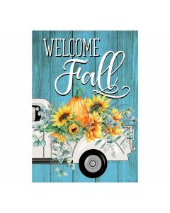 Welcome Fall Gartenfahne für Herbst von American Heritage