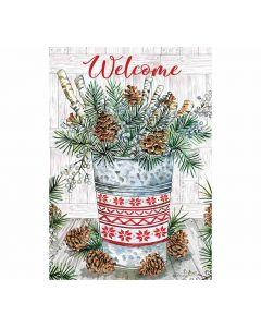 Welcome Winterfahne Gartenfahnen von American Heritage