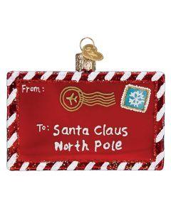 Weihnachtsanhänger Letter to Santa Claus von American Heritage