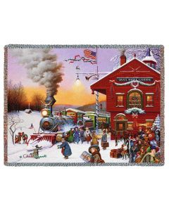 Whistle Stop Christmas blanket from American Heritage