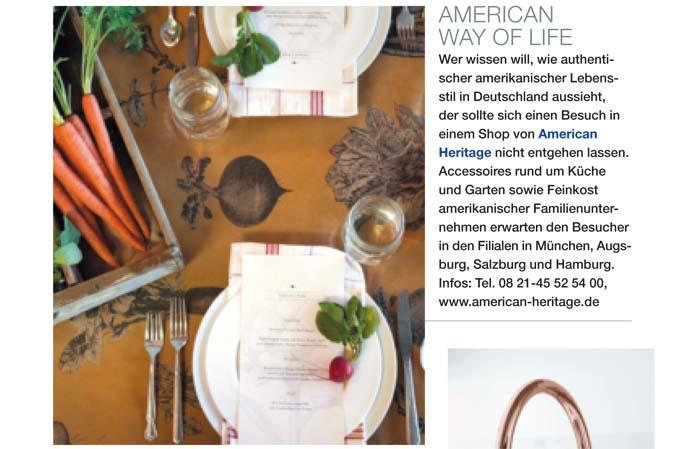Ideen für den gedeckten Tisch von American Heritage