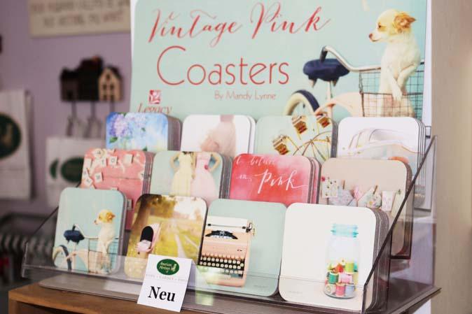 Vintage Pink Coasters - Untersetzer