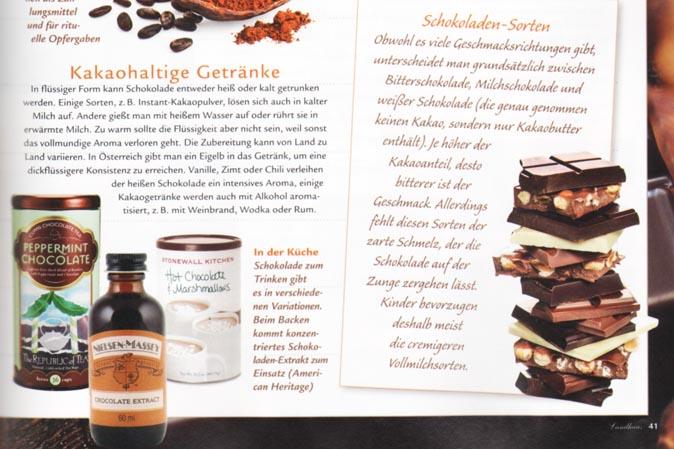 Drei köstliche Schokoladenprodukte von American Heritage