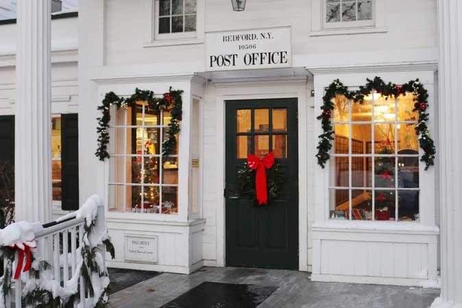 Weihnachtspost im Bundesstaat New York - American Heritage wünscht Frohe Weihnachten
