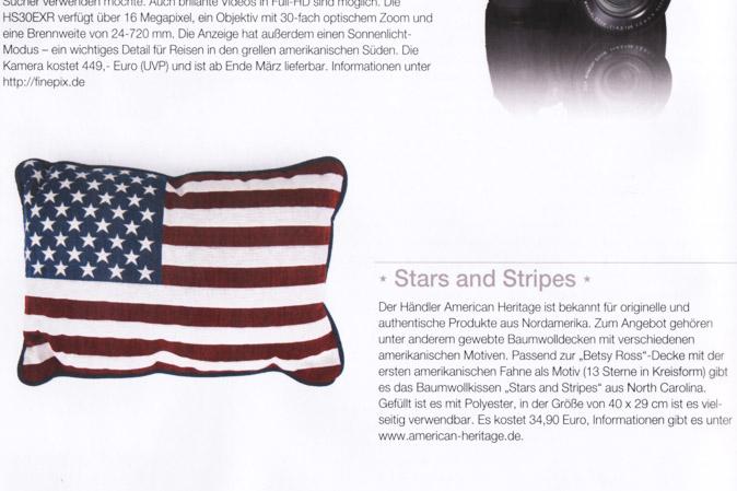 Magazinausschnitt aus dem America Journal