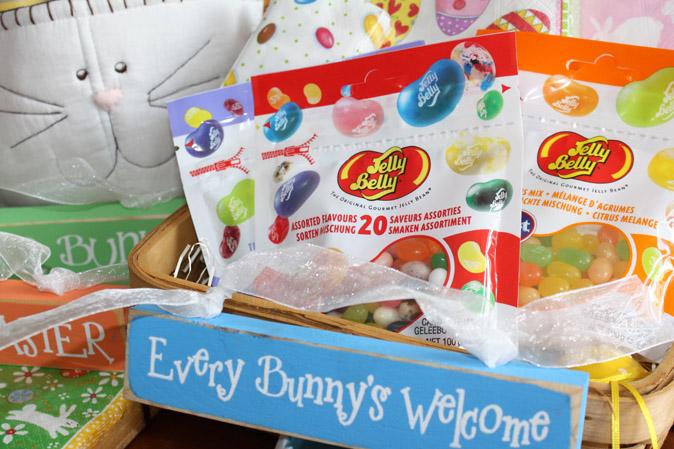 Jelly Beans mit Oster-Deko