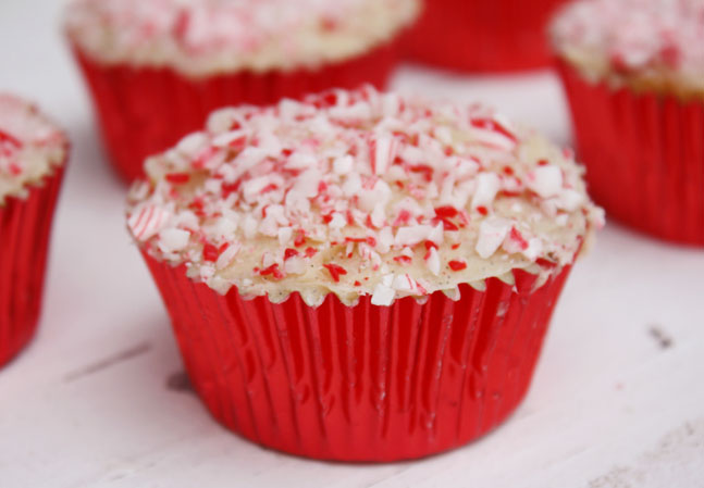 Candy Cane Sprinkles Cupcakes