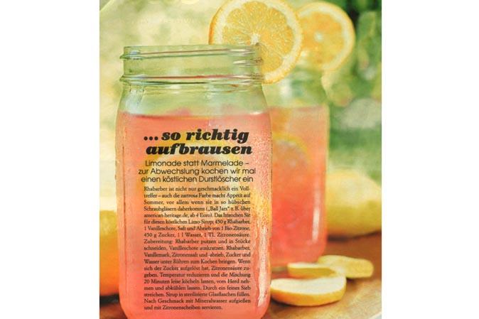 Limonade statt Marmelade: Erfrischende Getränkerezepte in der aktuellen Donna mit Ball Jars von American Heritage