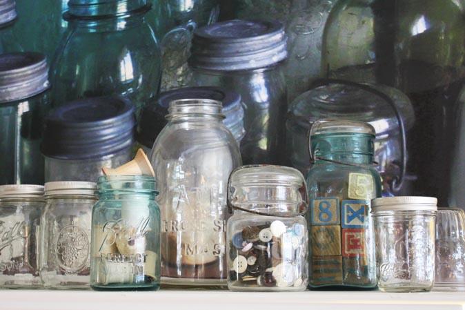 Antike Jars in verschiedenen Formen und Größen