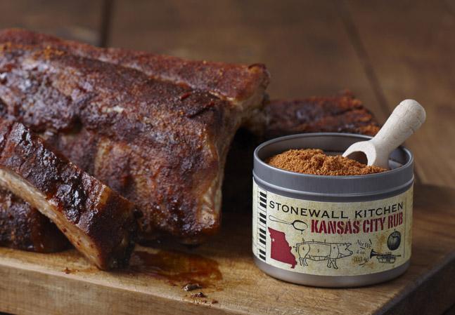 Stonewall Kitchen Rub mit Fleisch