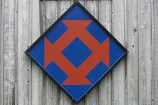 Quilt-Muster auf amerikanischen Farmgebäuden